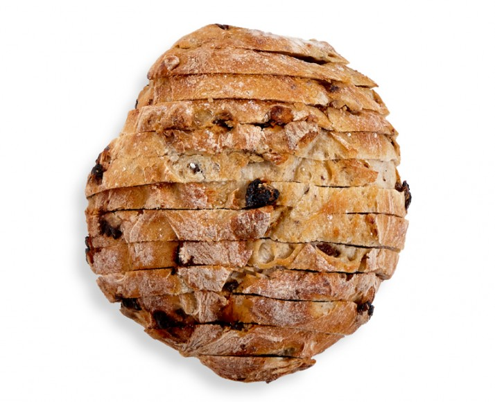 Raisin, Hazelnut & Honey Sourdough Round Loaf