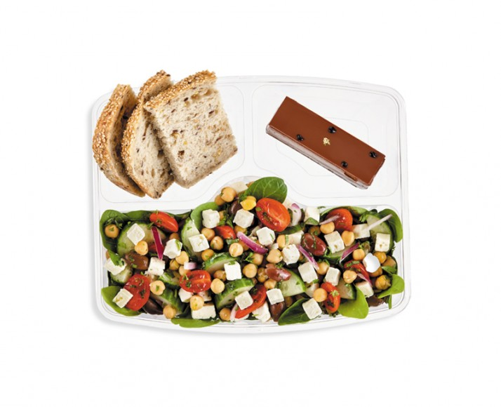 GREEK CHICKPEA SALAD IN A MEAL BOX
