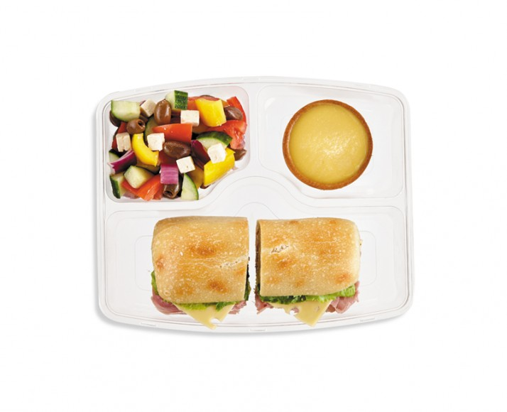 COOKED HAM & EMMENTHAL ON CIABATTA IN A MEAL BOX