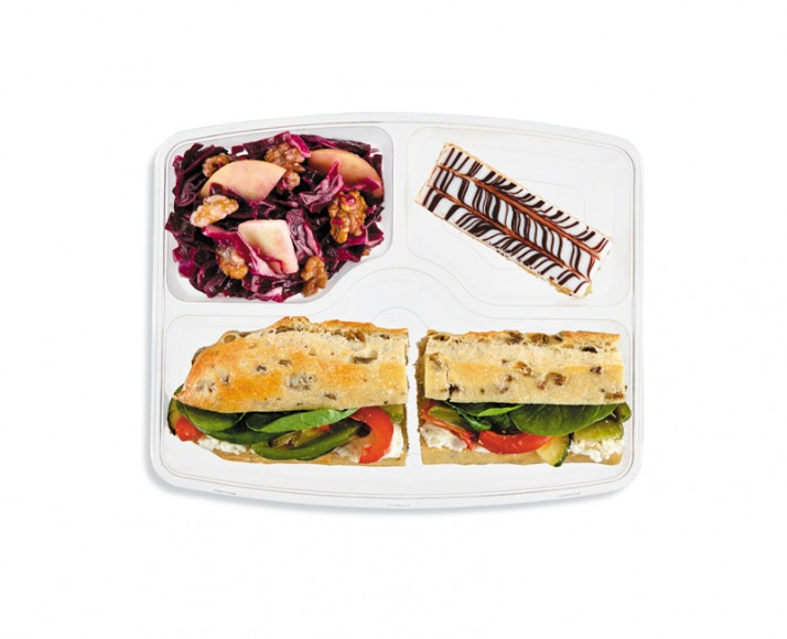 GRILLED VEGETABLES & SUNDRIED TOMATO GOAT CHEESE SANDWICH IN A MEAL BOX