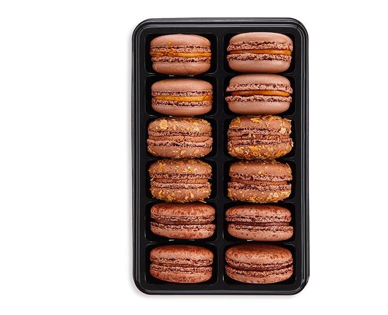 ASSORTED CHOCOLATE MACAROONS